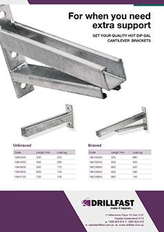 Drillfast cantilever bracket brochure