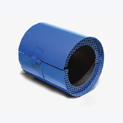 Promat wall blue barrel collars