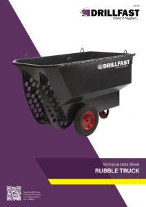 Armorgard rubble truck Technical data sheet
