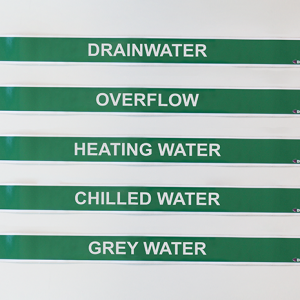 green pipe markers