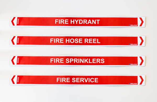 red pipe markers