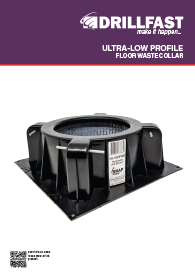 Drillfast Ultra Low Profile Floor Waste Collar Brochure