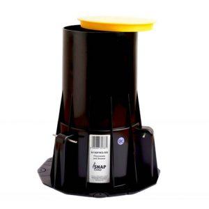 22CIC-H100FWS Floor Waste Cast in Fire Collar Black drillfast